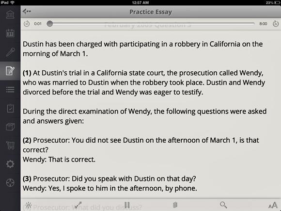 California Bar Exam Practice Essays